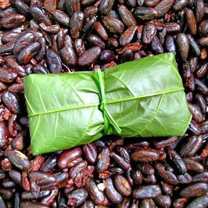 Barra de chocolate recém-embalada pela Nena. (Foto: Antonia Padvaiskas)