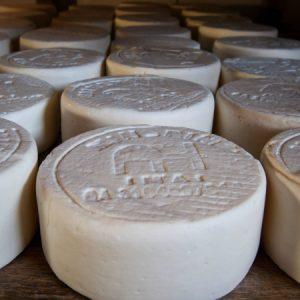 Queijo com marca de baixo relevo atesta a origem do produto de Alexandre Honorato. (Foto: Mayra Galha)