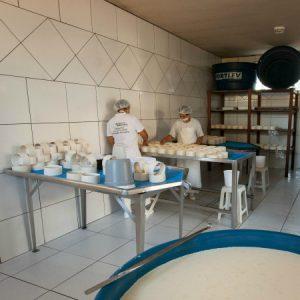 Queijaria espaçosa atende a critérios sanitários federais. (Foto: Mayra Galha)