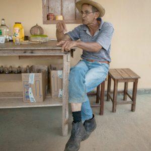 Seu Zé Mário durante a prosa com o Sacola. (Foto: Mayra Galha)