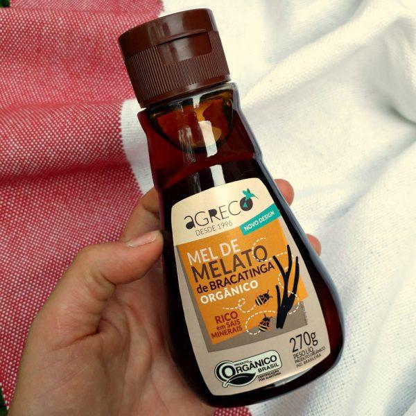 Mel de melato de bracatinga (270g), da Agreco Orgânicos (@agreco.brasil/ ), de Santa Rosa de Lima/SC